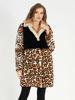 Picture of MODAQUEEN Women Leopard Pattern Mink Fur Accesory Cropped Orylag Fur Coat 7045-A