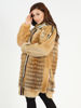 Picture of MODAQUEEN Women Gold Fox and Argente Fur Coat 1815-B