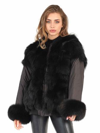 Picture of MODAQUEEN Women Double Sided Wearable Fox Fur Coat 7080