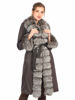 Picture of MODAQUEEN Women Silver Fox Fur Accesory Fabric Coat 1956