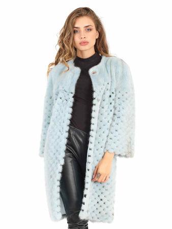 Picture of MODAQUEEN Women Mink Fur Coat 6375
